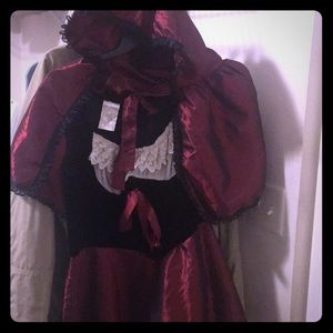 Adult little red riding hood costume.